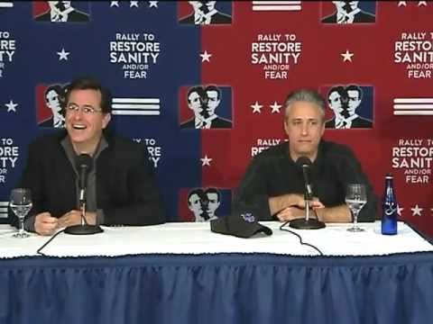 Jon Stewart &amp; Stephen Colbert Sanity/Fear Press Conference