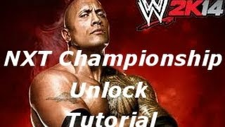 How To Unlock The NXT Championship Belt (Tutorial)