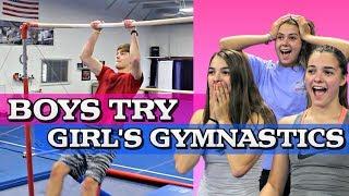 Boys Try Girl's Gymnastics!