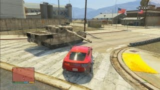 GTA V: How To Steal A Rhino TANK From Fort Zancudo