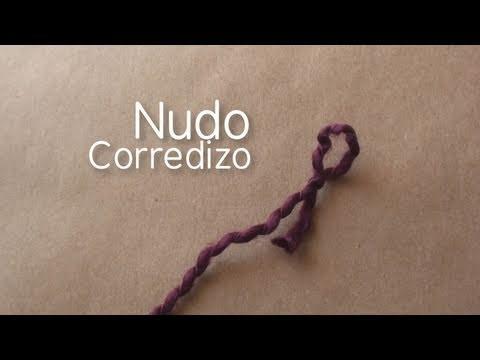Como hacer nudo corredizo // iniciar tejido en telar