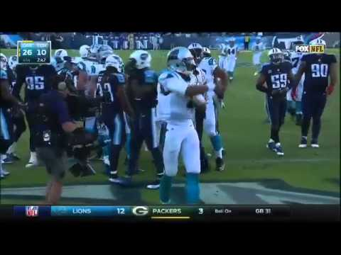Tried to fight Cam Newton over touchdown
