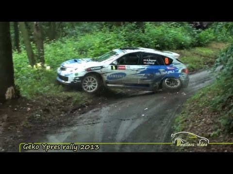 Geko Ypres rally 2013 |Crash| [HD-Pure sound] By Devillersvideo