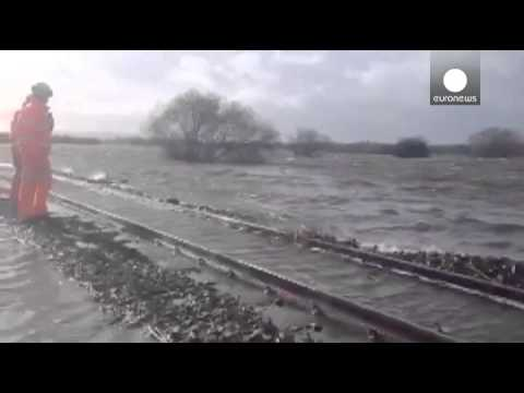 Thames floods and Westcountry crisis deepens as severe weather batters Britain and Europe's...