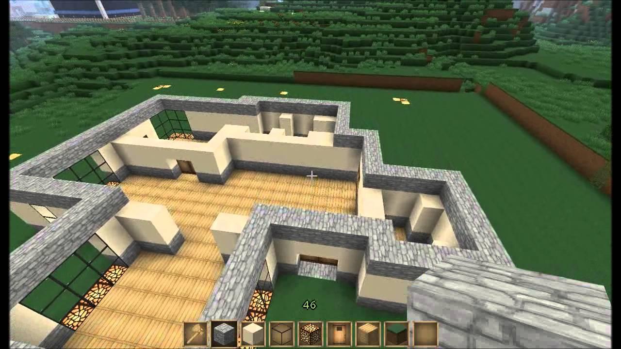 Minecraft let 39 s build large modern house part 1 youtube for Build big modern house on minecraft