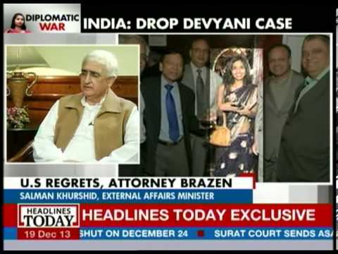 Salman Khurshid talks about why US is mistreating India