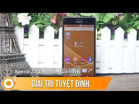Sony Z3 T-mobile giá 5tr590: Giải trí tuyệt đỉnh