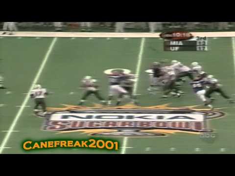 2001 Sugar Bowl - Miami Hurricanes vs Florida Gators Highlights