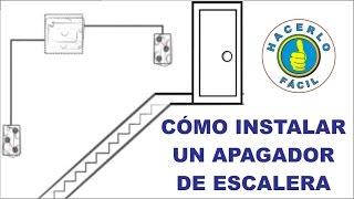 Instalar un apagador de escalera