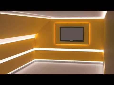 pomysł na oświetlenie pokoju - listwa GK, profil LED