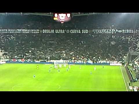 Juventus- Sampdoria 4-2 sciarpata SU /GIÙ