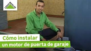 Como instalar un motor de puerta de garaje