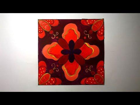 Vẽ trang trí hình vuông lớp 6 đẹp_ Vẽ trang trí hình vuông