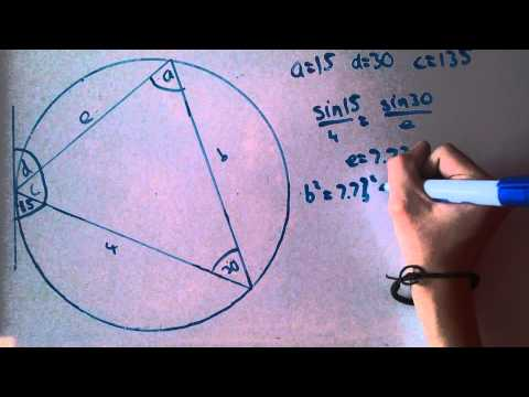 Circle Theorem 7 - Alternate segment theorem worked example