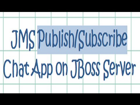 Publish/Subscribe JMS chat application - Tutorial running on JBoss server
