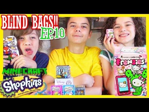 BLIND BAGS Ep. 10 | Shopkins Tokidoki Minecraft Disney Hello Kitty | KITTIESMAMA