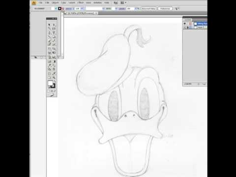 Digital ink with Adobe Illustrator CS4 part 1