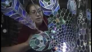 Arte con vidrio reciclado