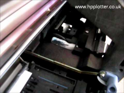 Designjet 500/800 Series - Showing 21:10 error code on your printer