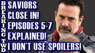 Saviors Close In! Episodes 5-7 Structure EXPLAINED | Scavengers, Negan Return Walking Dead Season 8