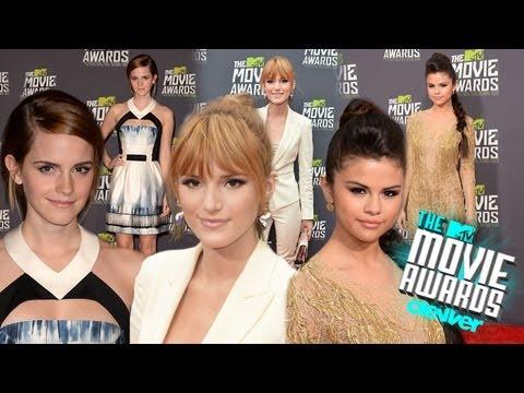 Selena Gomez, Emma Watson, Bella Thorne Red Carpet Fashion 2013 MTV Movie Awards,