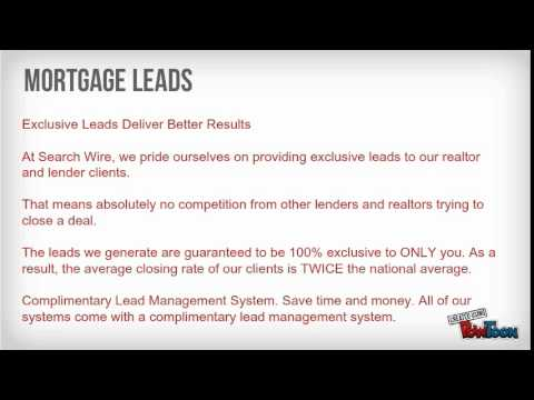 Buy Real Estate Leads- Search Wire LLC