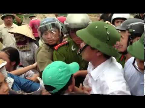 Dân Oan VN - cận cảnh bà con chống CA cưỡng chế đất tại Xã Từ Sơn, Bắc Ninh