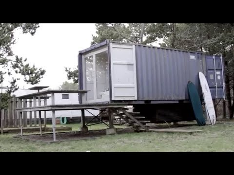A seattle shipping container tiny house home thx 1138 george lucas inspired youtube - Container homes youtube ...