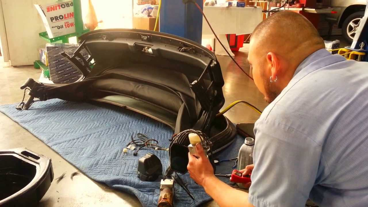 Bmw Z4 Convertible Top Motor Location