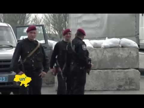 Russian Separatist Insurgency in East Ukraine: Ukrainian police set up checkpoints outside Donetsk