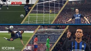PES 2019   The goals from Gagliardini and Lautaro Martinez at the 2018 ICC  🎮⚫️🔵??