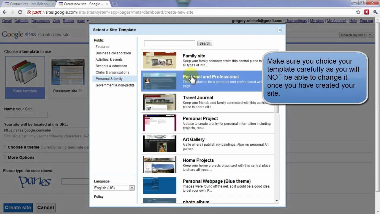 how to create an intranet using google sites