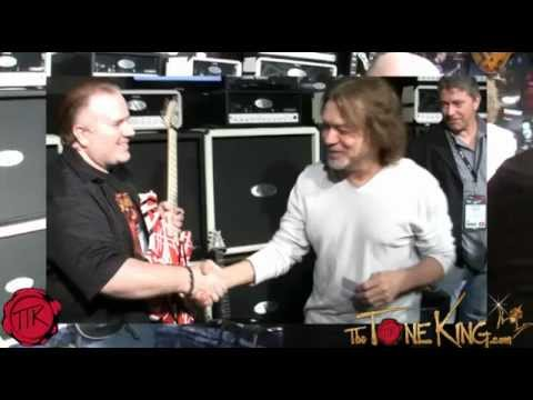 NAMM 2013 : TTK meets EDDIE VAN HALEN @ the EVH Booth!  TOTAL SUPRISE!  Starstruck & AWESOME!
