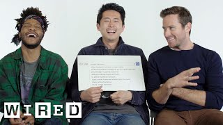 Steven Yeun, Armie Hammer & Jermaine Fowler Answer the Web's Most Searched Questions | WIRED