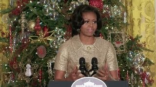 First Lady Previews the 2012 White House Holiday Decorations
