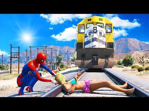 SPIDERMAN Water Ragdolls | GTA 5 Jumps/Fails #56 (Euphoria Physics | Funny Moments | Ragdoll)
