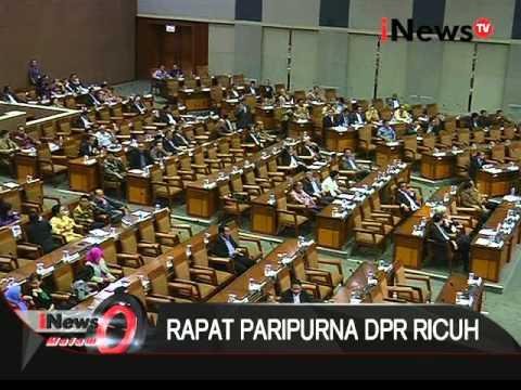 Rapat paripurna DPR ricuh - iNews Malam 26/01