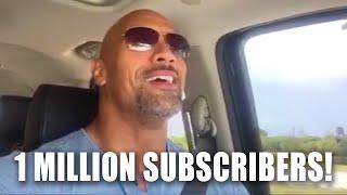 The Rock super el millónde suscriptores en Youtube