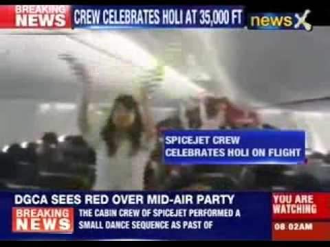 SpiceJet's Mid-air holi celebrations lands airlines in trouble