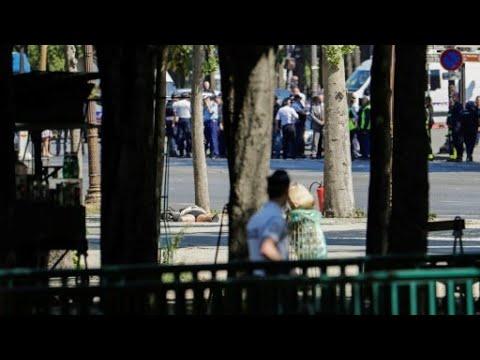 العثور على أسلحة داخل سيارة هاجمت الشرطة في الشانزليزيه ومقتل سائقها