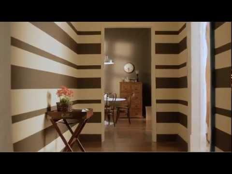 C mo pintar una pared con rayas horizontales youtube - Rayas horizontales ...