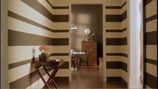 Pintar una pared con rayas horizontales