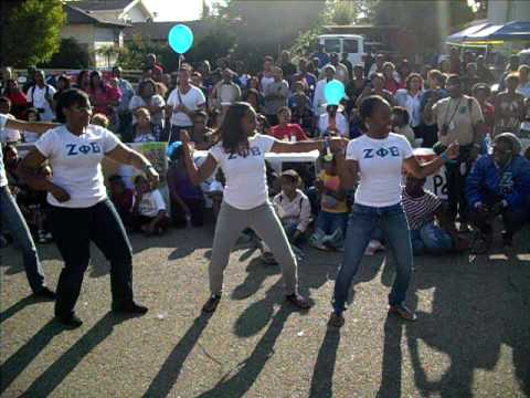 Zeta Phi Beta Stroll: Stop the Violence Community Service: Fall 09 GB/NM