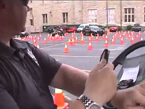 Sheriff's office holds distracted driving demo