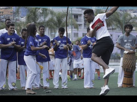 World Cup 2014: England players try capoeira