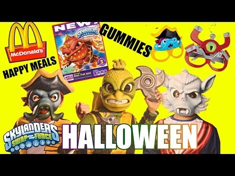 New Skylanders Swap Force Halloween Costumes, McDonalds Happy Meals & Gummy Snacks