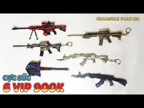 [CFVN] Set 6 vũ khí VIP mô hình đột kích giá cực sốc (Tặng kèm giá đỡ) - Crossfire Forever