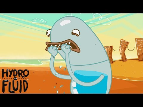 Nail Biting Stunts | HYDRO and FLUID | Funny Cartoons for Children