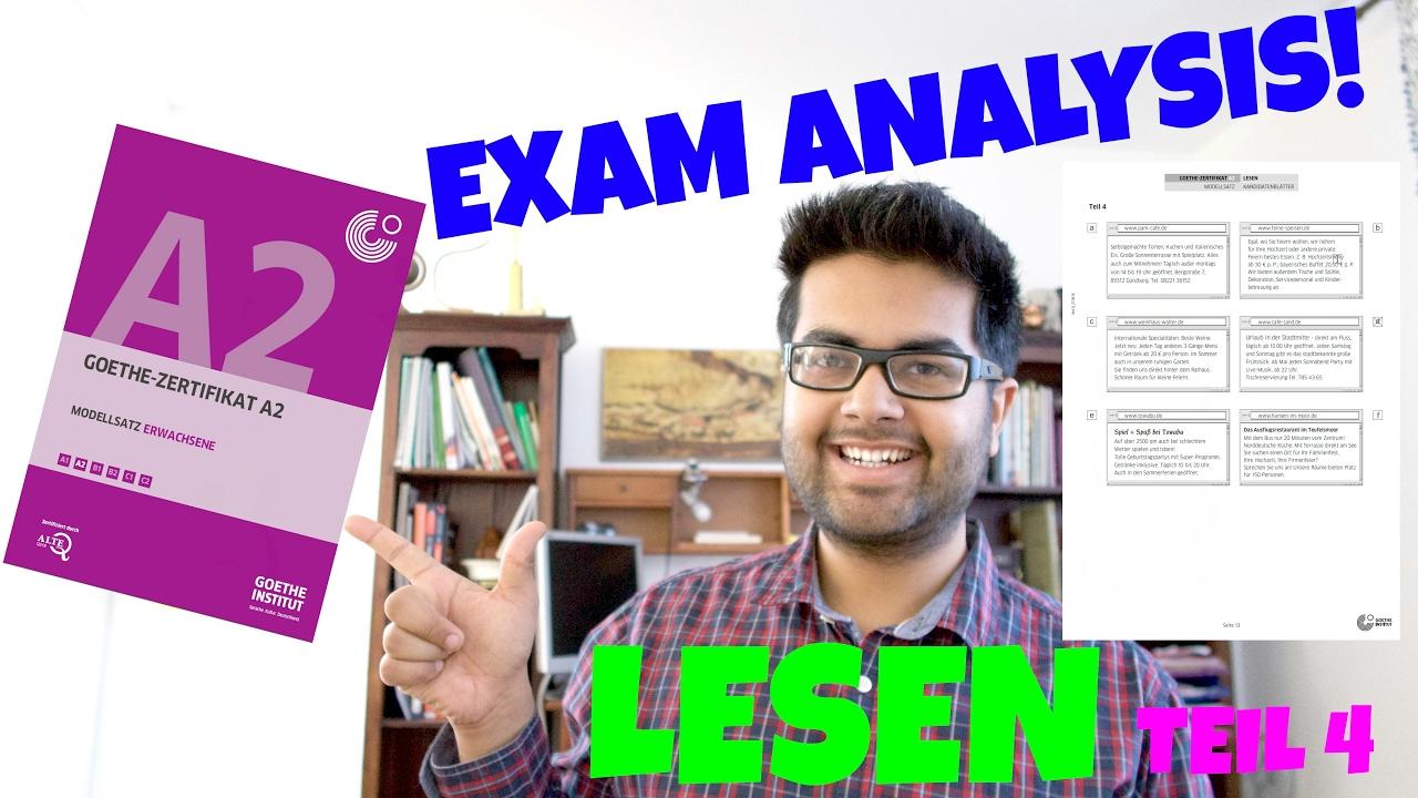 New Goethe Zertifikat A2 Exam Analysis And Tips 14 Lesen Teil 4
