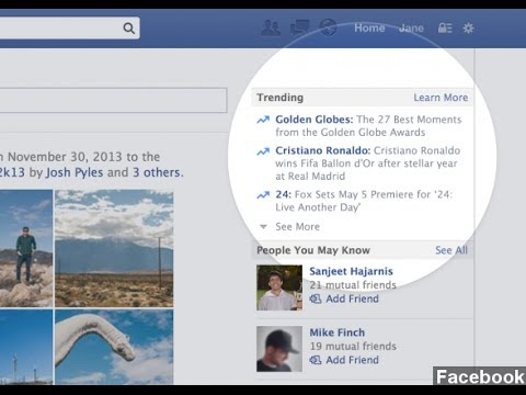 Facebook's 'Trending' Feature Will Show Popular Topics